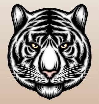 Illustration de tigre blanc cool.