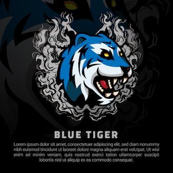 Illustration de tigre bleu