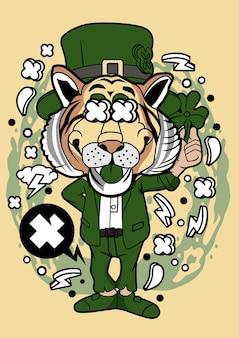Illustration de tigre de lutin