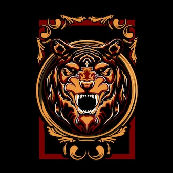 Illustration de tigre mystique