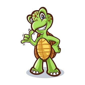 Illustration de tortue en dessin animé