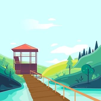 Illustration de la tour de la rivière