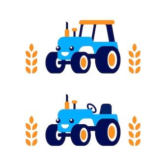 Illustration de tracteur mignon