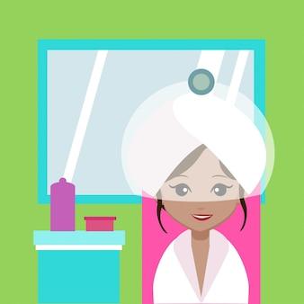 Illustration de traitement des cheveux
