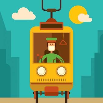 Illustration de tram