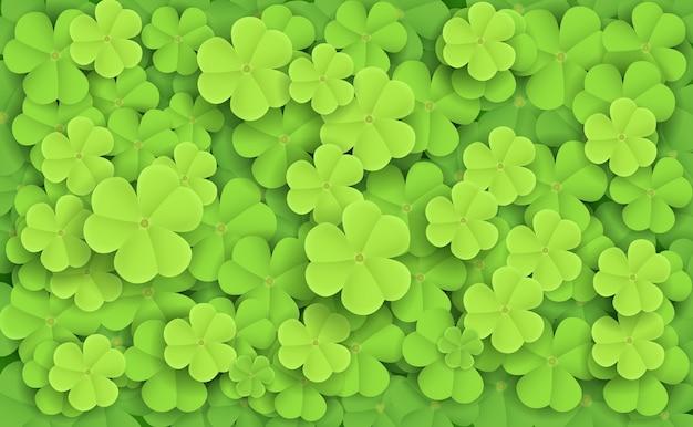 Illustration de trèfles frais vert