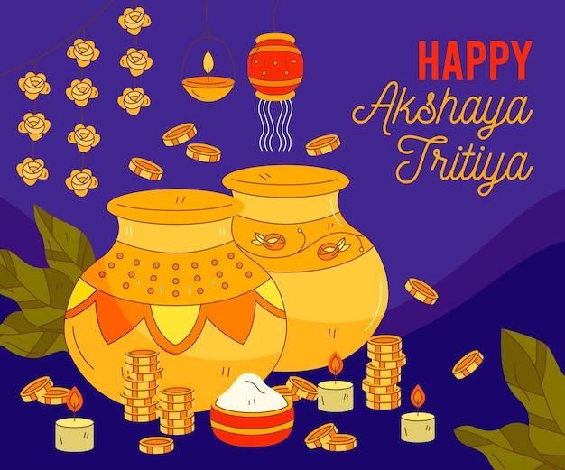 Illustration de tritiya akshaya dessiné à la main