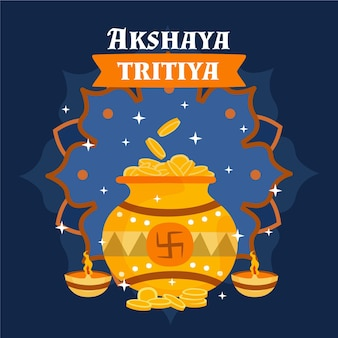 Illustration de tritiya akshaya dessiné à la main