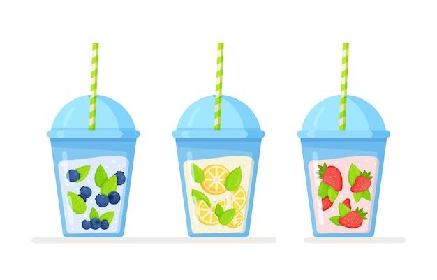 Illustration de trois limonades isolées