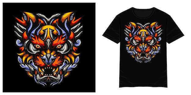 Illustration de tshirt vecteur lionza