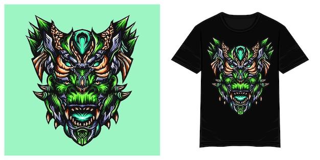 Illustration de tshirt vecteur monstre zilla