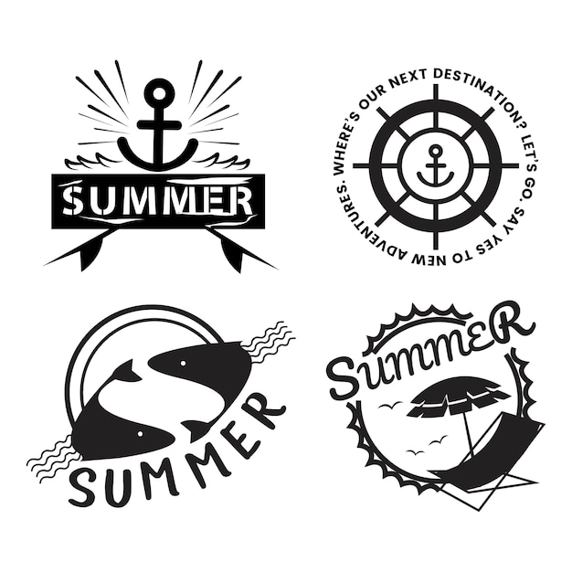 Illustration de typographie été et vacances