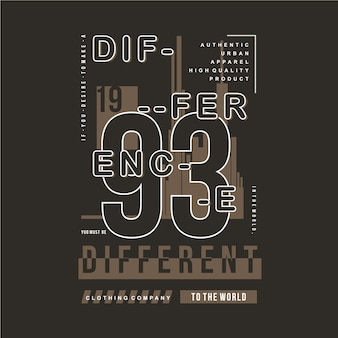 Illustration de typographie graphique de cadre de texte slogan pour t-shirt imprimé