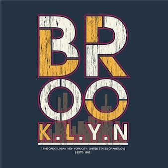 Illustration de typographie graphique texte brooklyn