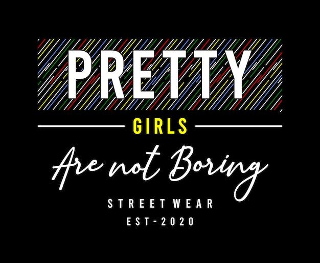 Illustration de typographie de jolies filles