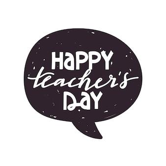 Illustration de typographie de jour de l'enseignant heureux.