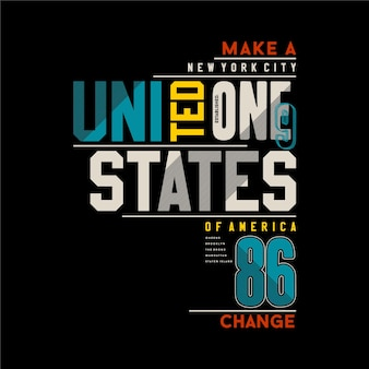 Illustration de typographie urbaine des états-unis pour t-shirt
