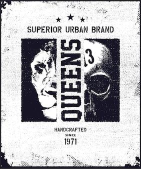 Illustration de typographie urbaine vintage