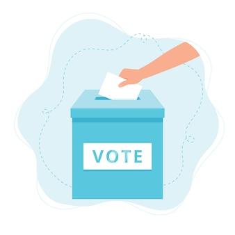 Illustration de l'urne de vote