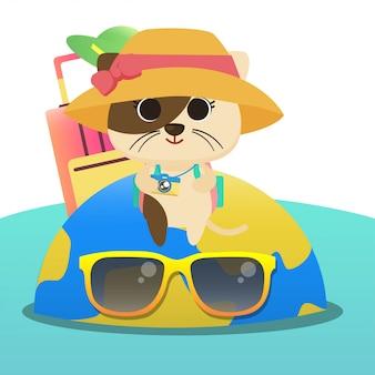 Illustration de vacances de chat