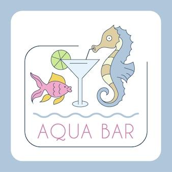 Illustration de vacances d'été enfantine. bar aquatique.