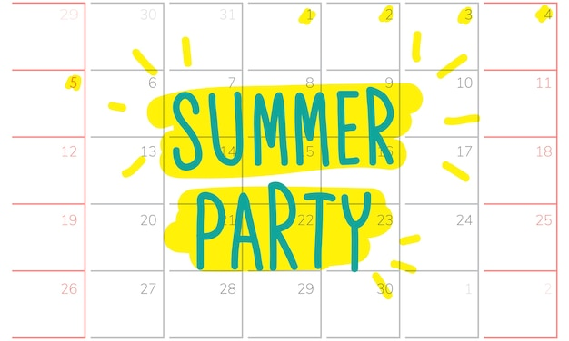 Illustration des vacances d'été