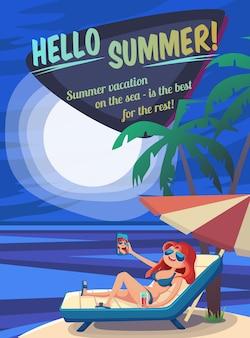 Illustration de vacances d'été.