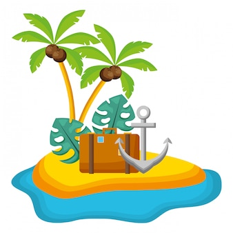 Illustration de vacances de l'heure d'été