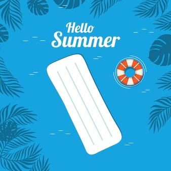 Illustration de vacances à la plage d'été