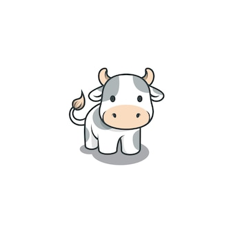 Illustration de vache mignonne isolée