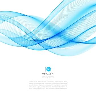 Illustration de vague de mouvement abstrait