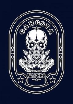 Illustration de vape crâne pour t-shirt