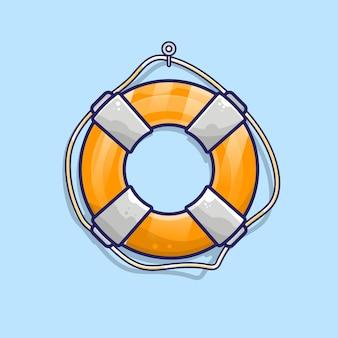 Illustration de vecteur de dessin animé bouée de sauvetage