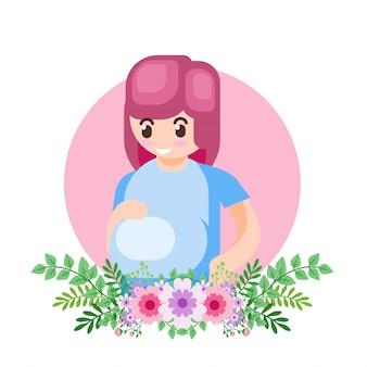 Illustration de vecteur heureux parent de la fête mère