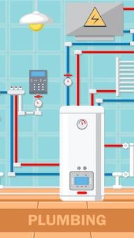 Illustration de vecteur plat concept plomberie.