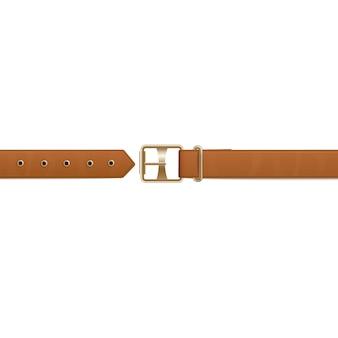 Illustration de vecteur réaliste ceinture ou ceinture marron isolé