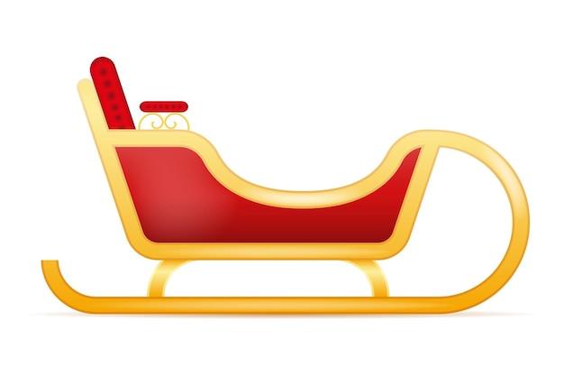 Illustration de vecteur de traîneau de noël du père noël isolé sur fond blanc