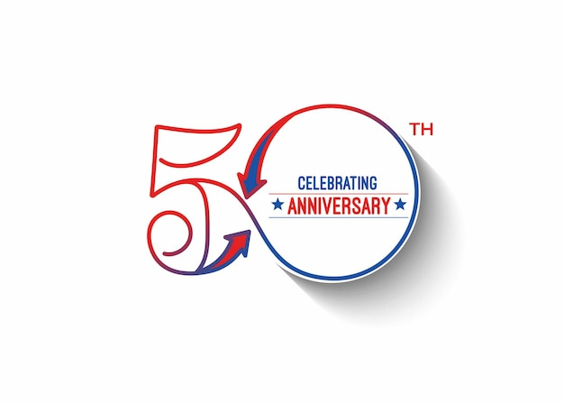 Illustration vectorielle de 50e anniversaire célébration