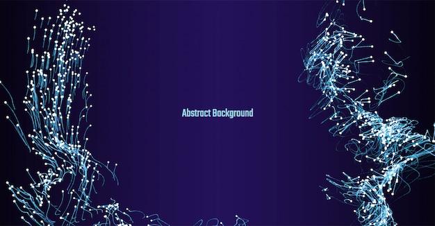 Illustration vectorielle abstrait bleu foncé avec des points lumineux