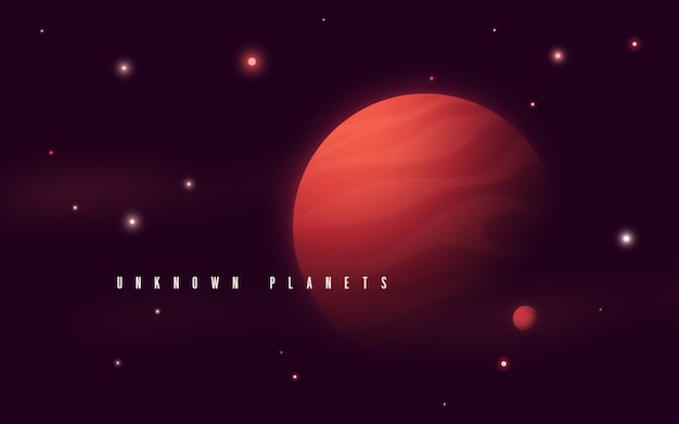 Illustration vectorielle abstraite de science-fiction de l'espace lointain.