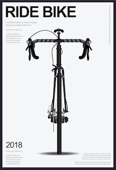 Illustration vectorielle affiche vélo