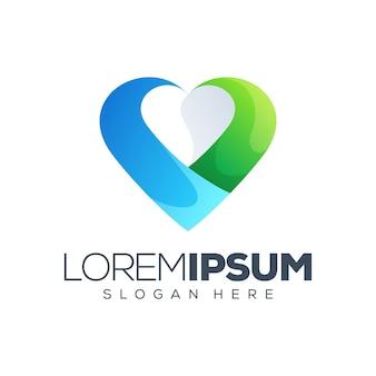 Illustration vectorielle de l'amour logo
