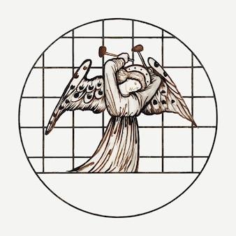 Illustration vectorielle d'ange, remixée à partir d'œuvres d'art de sir edward coley burne–jones