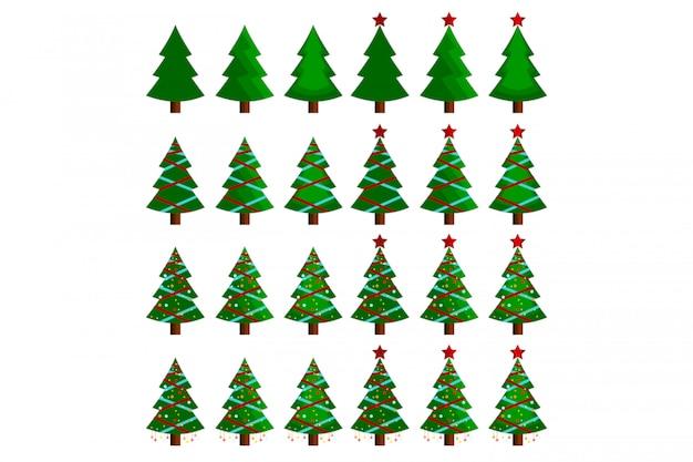 Illustration vectorielle arbre de noël