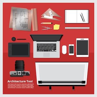 Illustration vectorielle d'architecture outil