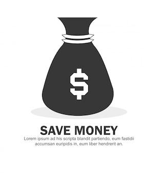 Illustration vectorielle de l'argent