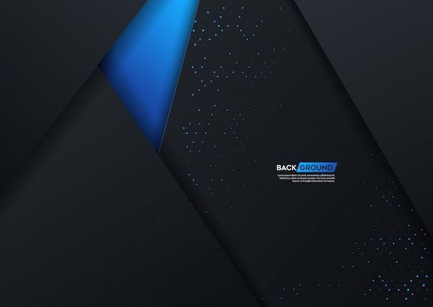 Illustration vectorielle d'art abstrait papier bleu