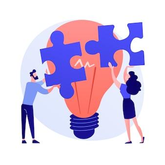 Illustration vectorielle d'assistance mutuelle concept abstrait. programme d'entraide, entraide, soutien aux entreprises, services bancaires mobiles, travail d'équipe, groupe de personnes, métaphore abstraite se serrant la main.