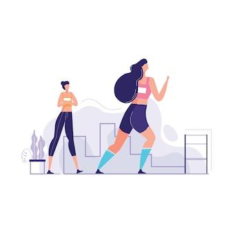 Illustration vectorielle d'athlète debout tous les temps de piste de course