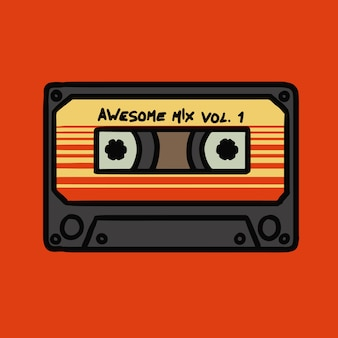 Illustration vectorielle awsome mix tape